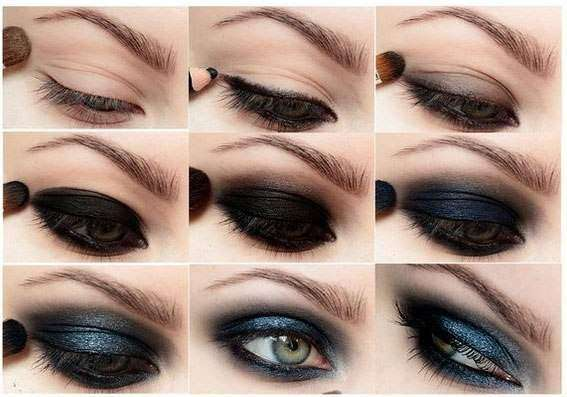 Этапы нанесения макияжа смоки айс